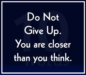If You Don't Quit, You Win   Daily Manna