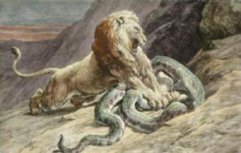 victory-lion-snake